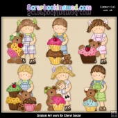 Maggie And Mikey With The Cupcake Bears ClipArt Collection