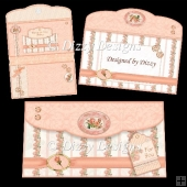 Peach Rose Purse Card Kit