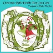 Christmas Bells Double Pop Out Card with Envelope