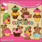 Cupcake Bumpkin Bears ClipArt Graphic Collection