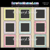 Decorative Polaroids Pastel ClipArt Collection
