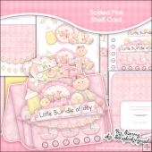 Tickled Pink Baby Girl Shelf Card & Card Box
