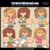 Betsy The Babysitter ClipArt Collection