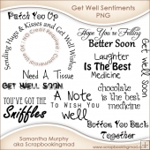 11 Get Well Sentiments Word Art PNG