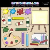Art Supplies ClipArt Graphic Collection