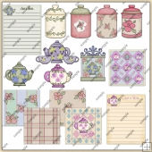 Teapots & Cookie Jars ClipArt Graphic Collection