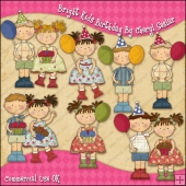 Bright Kids Birthday ClipArt Graphic Collection