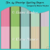 Ten A4 Pinstripe Backing Papers