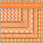 5 Pretty Little Daisy Backing Papers Download (C106)