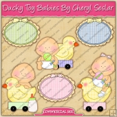 Ducky Toy Babies ClipArt Graphic Collection - REF - CS