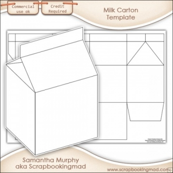 Milk box template | corrugated and folding carton box templates.