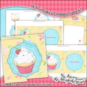 Hey Cupcakes Scalloped Foldback Card & Envelope