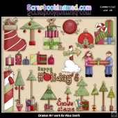 Christmas Is Coming ClipArt Graphic Collection 2
