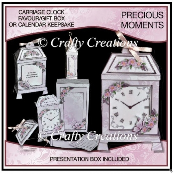 Precious Moments - Calendar Keepsake or Gift/Favour Box - Pinks