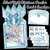 Silent Night Christmas Cracker Card & Envelope