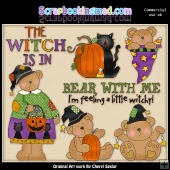 Bewitching Bumpkin Bears ClipArt Graphic Collection