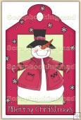 Christmas Snowman Decorative Tag - REF_T08