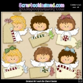 Angel Tags ClipArt Collection