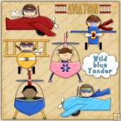Little Aviator ClipArt Graphic Collection