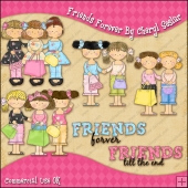 Friends Forever ClipArt Graphic Collection