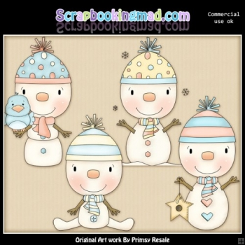 Snowbabies and Birds Clipart Graphics Download