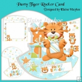 Party Tiger Rocker Card