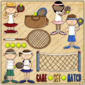 Tennis ClipArt Graphic Collection