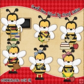 Sweet Beez School ClipArt Graphic Collection
