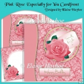 Pink Rose Especially for You Cardfront & Insert