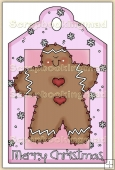 Christmas GingerBread Man Decorative Tag - REF_T18