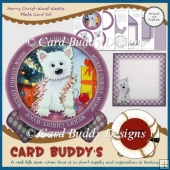 Merry Christ-Woof Westie Plate Card Kit