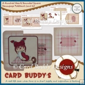 A Hundred Hearts Rounded Square Decoupage Foldback Card Kit