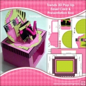 Trends 3D Pop Up Easel Card & Presentation Box