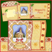 Church In Winter Card Kit