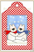 Skiing Polar Bear Gift Tag - REF_T620