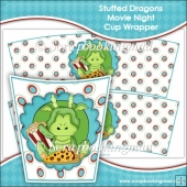 Stuffed Dragons Movie Night Cup Wrapper