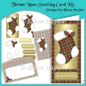 Tartan 2 Xmas Stocking Card Kit