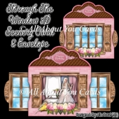 Through The Window 3D Scenery Card & Envelope