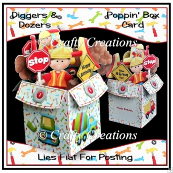 Diggers & Dozers Poppin' Box Card