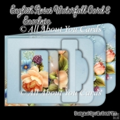 English Roses Waterfall Card