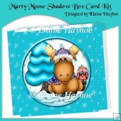 Marty Moose Shadow Box Card Kit