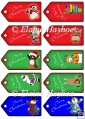 Ten Christmas Labels