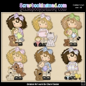 Evies Little Pals ClipArt Graphic Collection