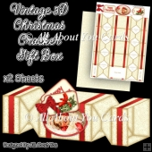 Vintage Christmas Cracker Gift Box