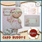 Girly Greetings Shaped Fold Card Kit