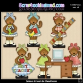 Mama Bear Teachers Rule ClipArt Collection