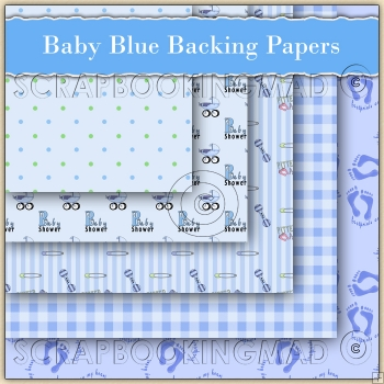 Baby Blue Backing Papers Download (C69)