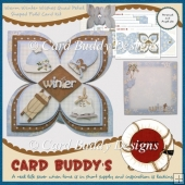 Warm Winter Wishes Quad Petal Shaped Fold Card Kit