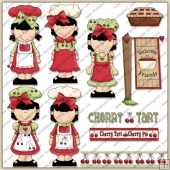 Cherry Girls ClipArt Graphic Collection
