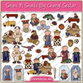 Snips N Snails ClipArt Graphic Collection - REF - CS
